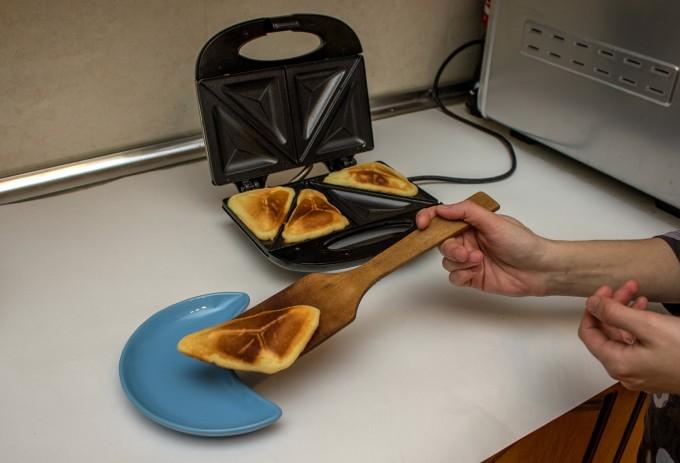 Ванилови кексчета в тостера за сандвичи