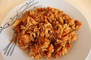 Вкусен ориз с пиле
