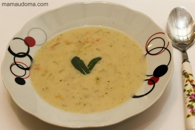 Бърза супа с топено сирене