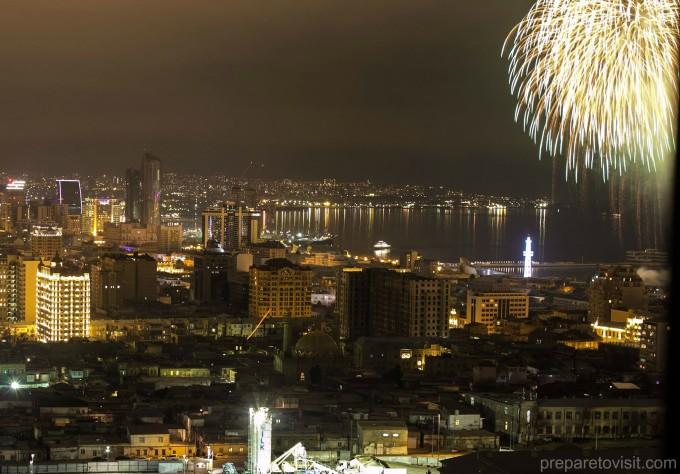 Нова година фойерверки Баку