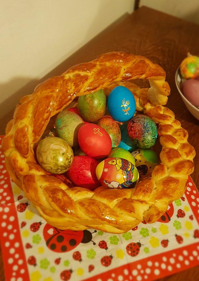 Великденски кошнички от тесто